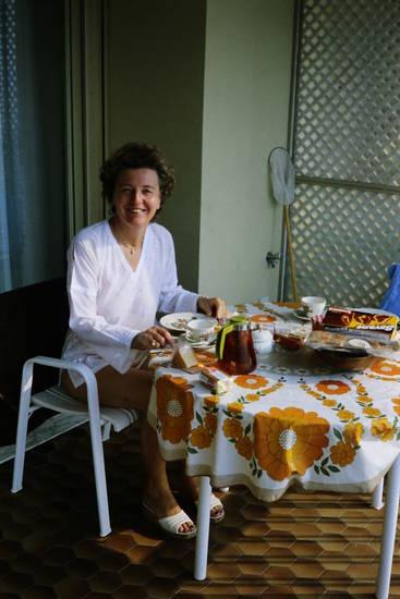 Blumenmuster, käse, Marmorkuchen, savane, teekanne, Tischdecke