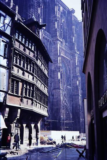 Baustelle, dom, Elsass, Kammerzellhaus, Kathedrale, kirche, straßburg, Straßburger Münster, straße