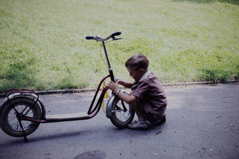 fahrzeug, Kindheit, lenker, Roller
