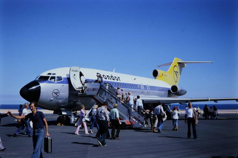 condor, Flughafen, flugzeug, passagier, reise, Treppe, urlaub, Urlaubsreise