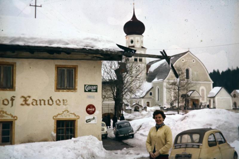 auto, hof xander, KFZ, kirche, leutasch, oberleutasch, Österreich, PKW, schnee, st. magdalena, Tirol, winter