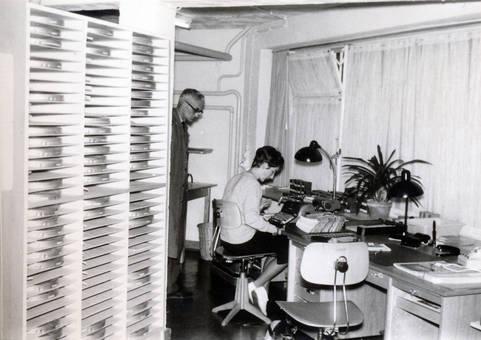 Arbeitsplatz am Archiv