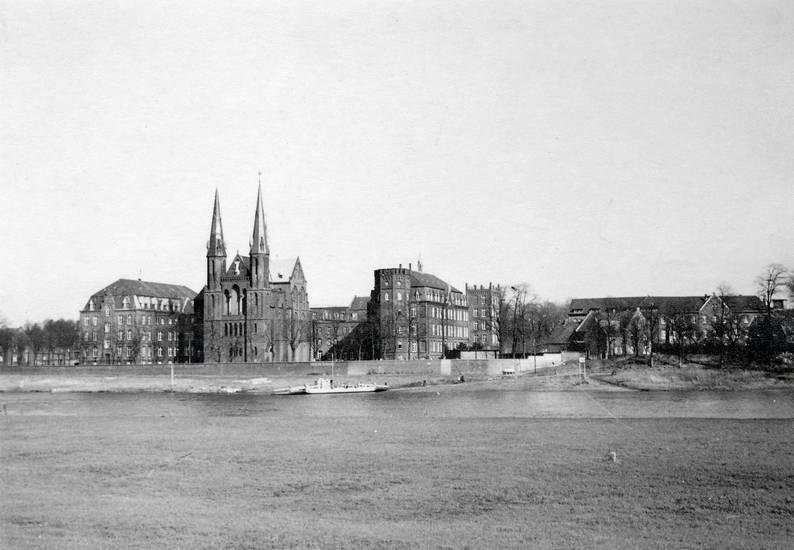 kirche, Kloster, Klosterkirche, Maas, niederlande, schiff, st. michael, Ufer