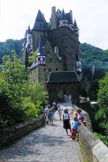ausflug, burg, Burg Eltz, familie, Wierschem