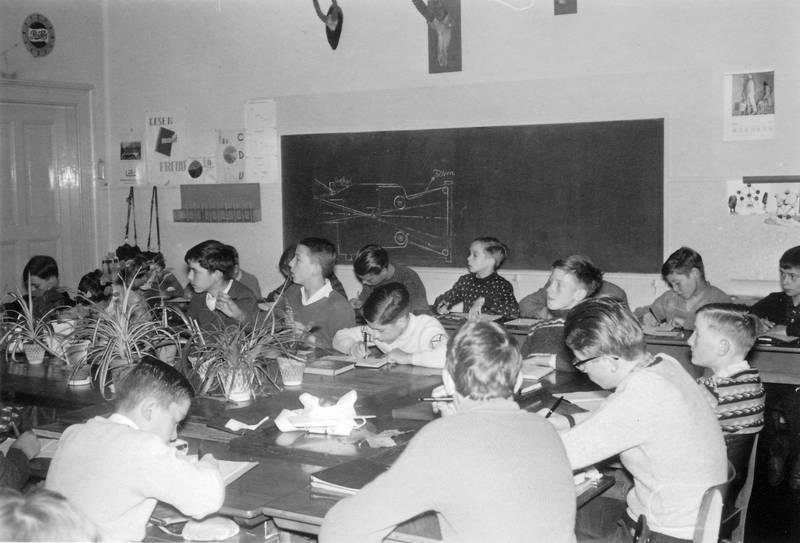 Kindheit, Klassenzimmer, schreiben, tafel, tisch
