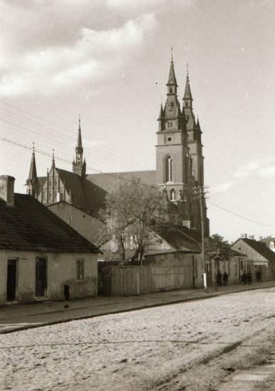 kirche, Polen, straße, Strommasten