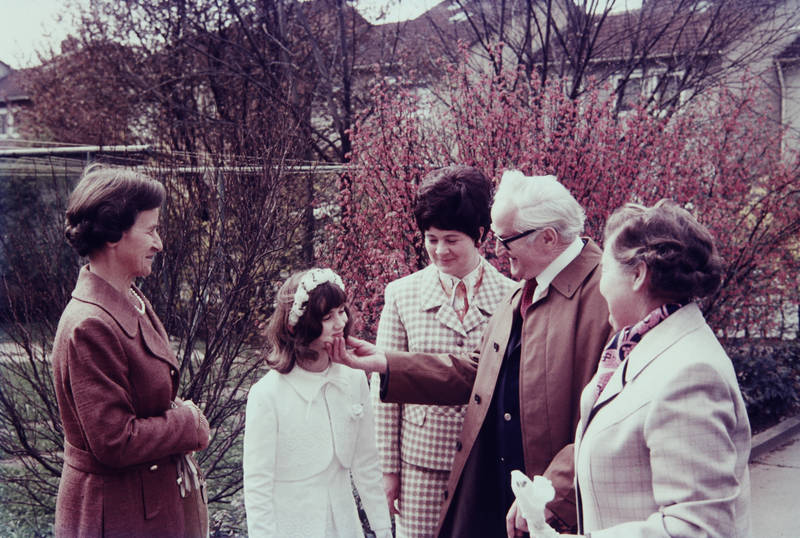 Enkel, Erstkommunion, familie, Großvater, Kindheit, Kommunion, mode