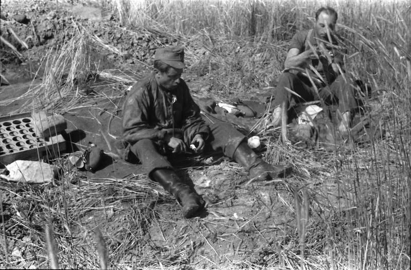 essen, gras, soldat, Wehrmacht, zweiter weltkrieg