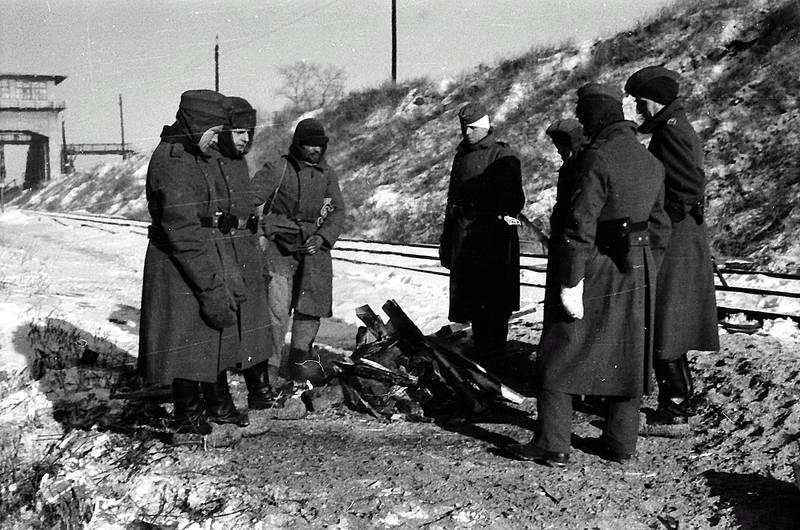 Gleis, holz, lagerfeuer, Schienen, soldat, Sonne, Wehrmacht