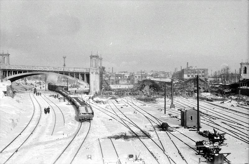 bahnhof, Gleis, Schienen, schnee, zug