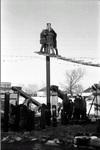 Arbeiten am Strommast
