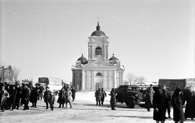 auto, KFZ, kirche, PKW, schnee, soldat, Wehrmacht, zweiter weltkrieg