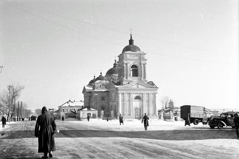 auto, KFZ, kirche, PKW, schnee, Wehrmacht, zweiter weltkrieg