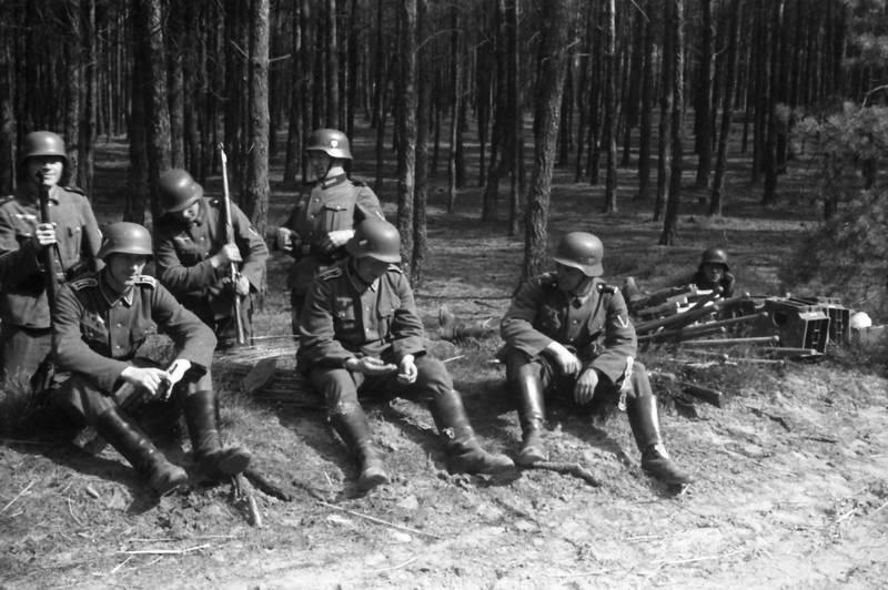 baum, lederhose, soldat, Uniform, Waffe, Wehrmacht, zweiter weltkrieg