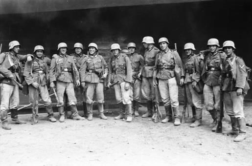 Soldaten in einer Reihe