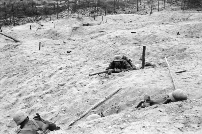 Gewehr, sand, soldat, Wehrmacht, wehrmachtssoldat, zweiter weltkrieg