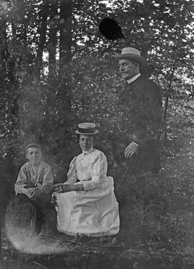 familie, Matrosenkragen, mode, wald