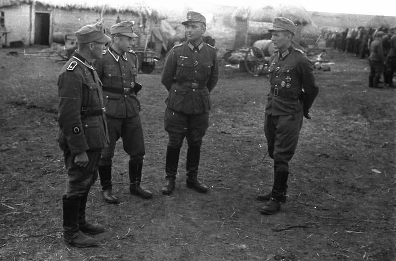 besprechung, dorf, europa, Nationalsozialismus, soldat, Uniform