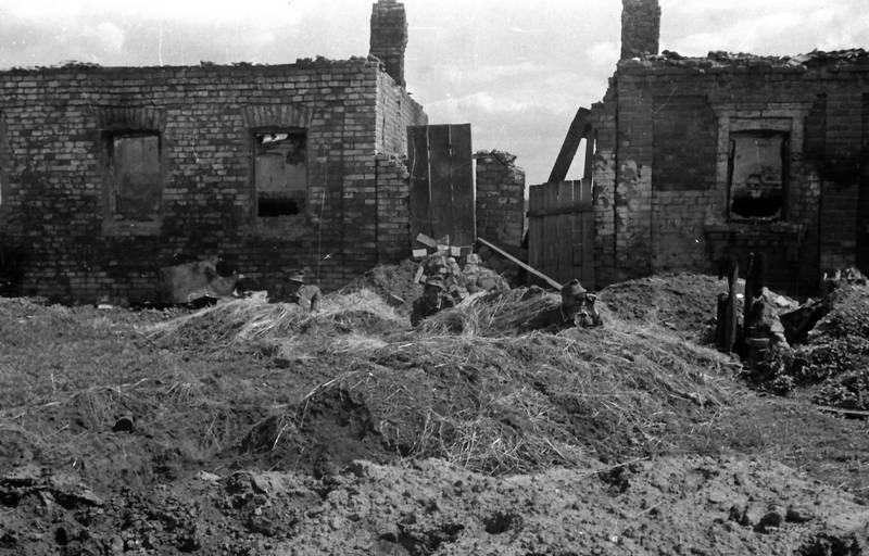 2.Weltkrieg, europa, Fernglas, Ruine, schützengraben, soldat, Uniform
