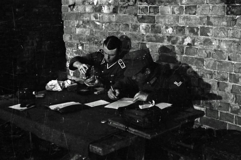 2.Weltkrieg, Bank, Brief, europa, soldat, tinte, tisch, Uniform