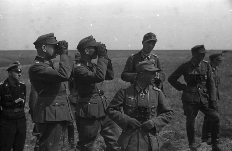 2.Weltkrieg, europa, feld, Fernglas, krieg, Soldaten, Uniform