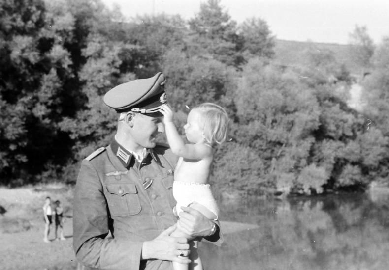Kindheit, see, soldat, Strockwindel, tochter, Uniform
