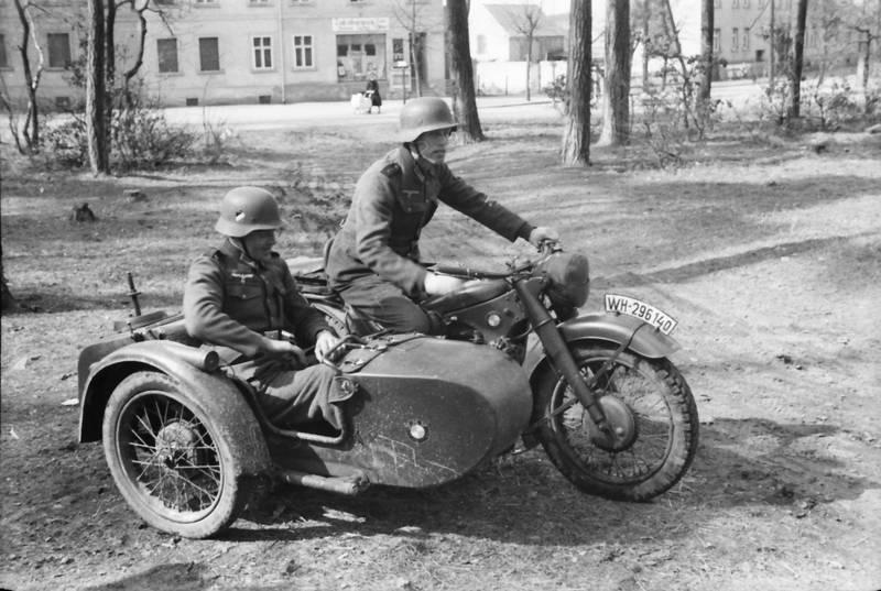 beiwagen, Helm, Motorrad, Motorradgespann, soldat, Uniform, Wehrmacht
