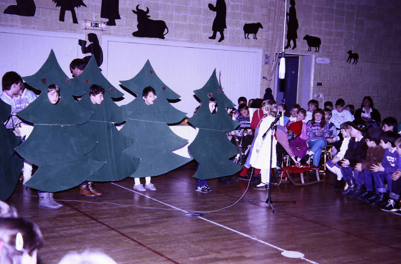 Aufführung, Tannenbaum, Theaterstück, Turnhalle, weihnachtsspiel