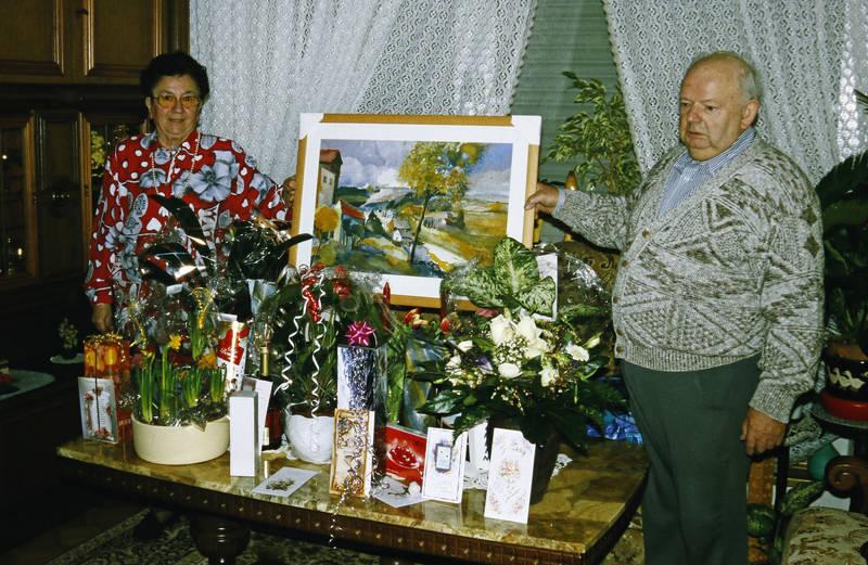bild, blumen, Gabentisch, geschenk, Großeltern, pflanzen