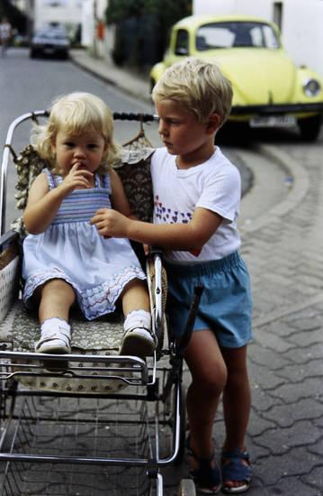 familie, Geschwister, kinderwagen, Kindheit