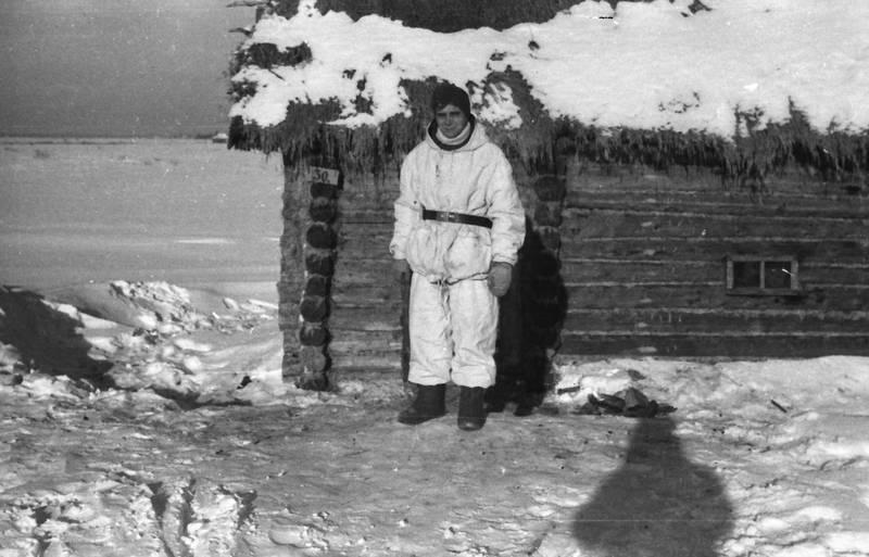 Holzhütte, kleidung, Russland, schnee, soldat, stiefel, zweiter weltkrieg