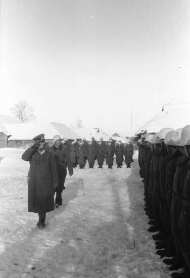 Appell, Holzhütte, offizier, Russland, salutieren, schnee, soldat, stiefel, Wehrmacht