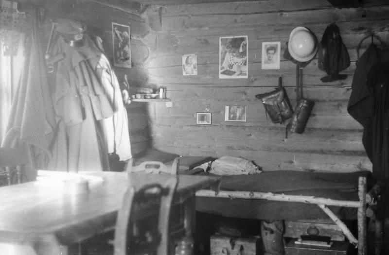 Birkenbett, familie, Foto, Holzhütte, Inneneinrichtung, mantel, pritsche, Russland, schnee, soldat