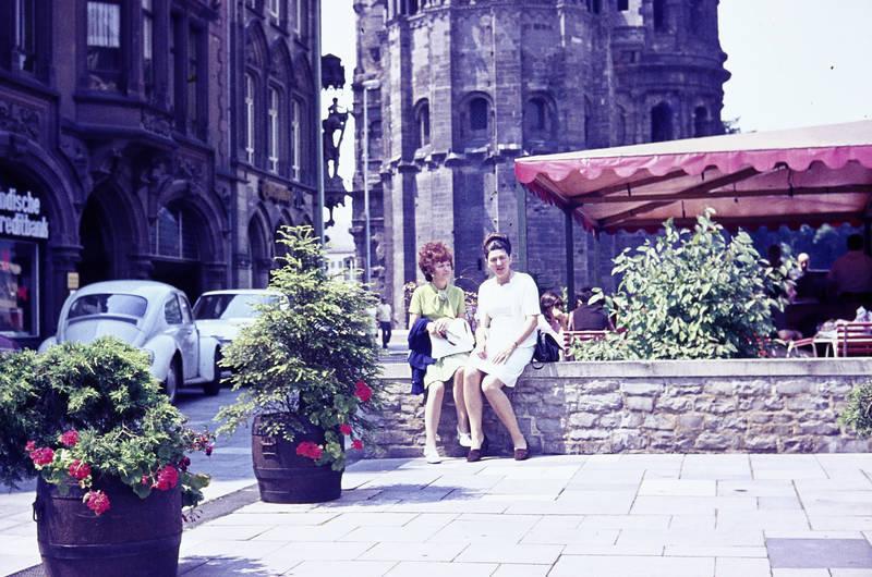 ausflug, cafe, mauer, Porta Nigra, stadt, Trier, VW-Käfer