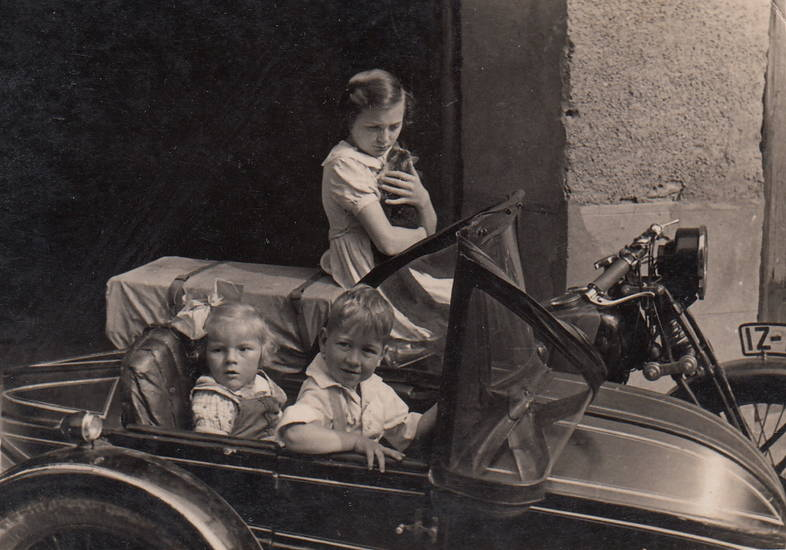 beiwagen, Katze, Kindheit, Motorrad, Motorradgespann
