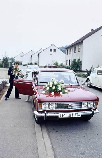 auto, blumen, Fiat, Fiat 125, Hochzeit, KFZ, PKW