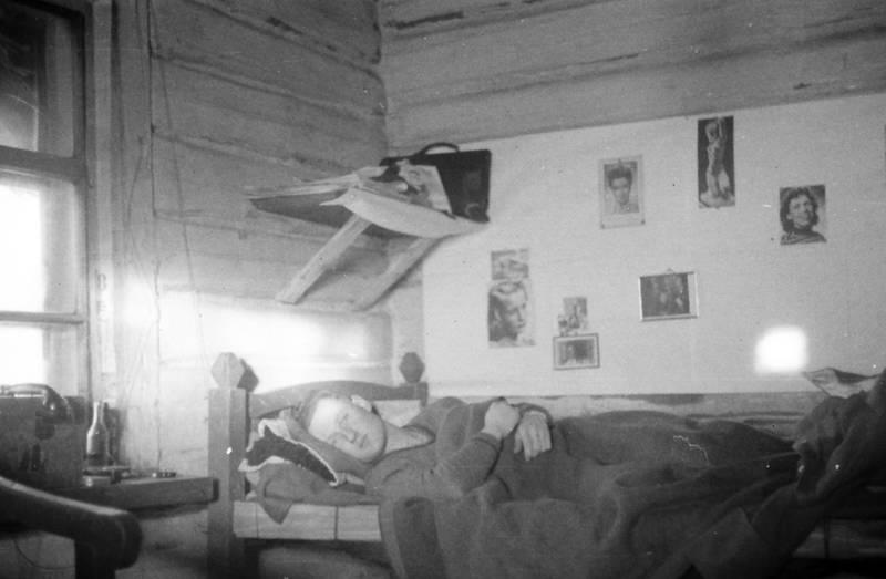 2.Weltkrieg, bett, Foto, morgen, Poster, Schlafanzug, soldat