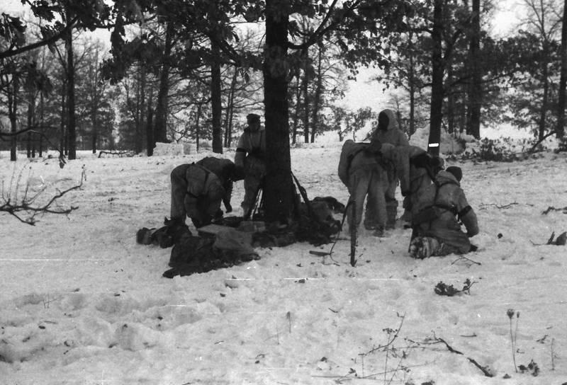 2.Weltkrieg, Gepäck, Gewehr, schnee, soldat, Waffe, wald