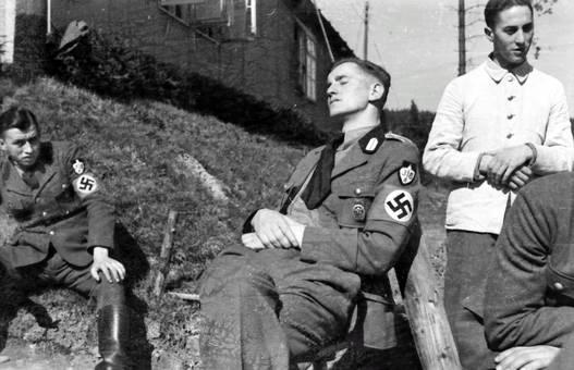 Schlafender Wehrmachtssoldat