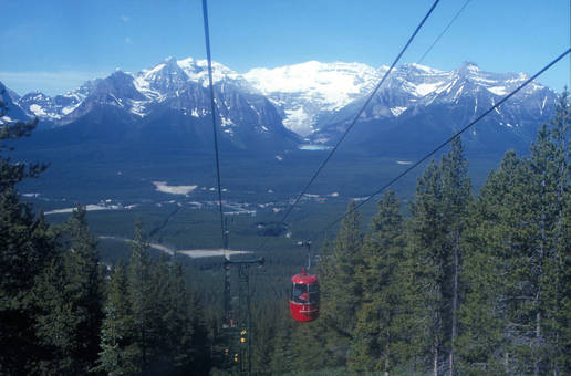 Seilbahn in den Rockies