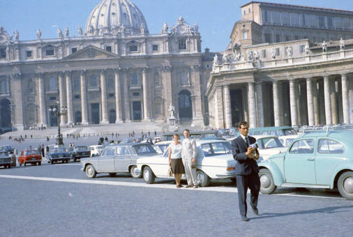 Parkplatz auf dem Petersplatz