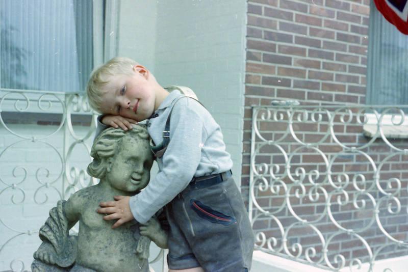 Hand, hosenträger, Kindheit, lederhose, statue, umarmen