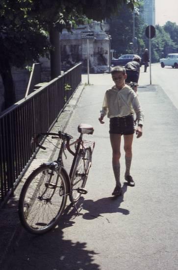 fahrrad, jugend, Kindheit, lederhose, münchen