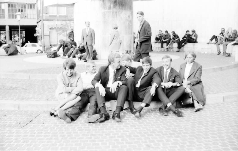 anzug, Hemd, jugend, Krawatte, Platz, sitzen, Tasche