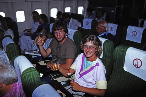 Nichtraucher im Flugzeug