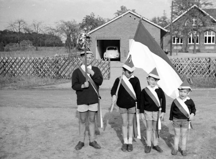 fahne, flagge, Garage, hut, Kindheit, schärpe