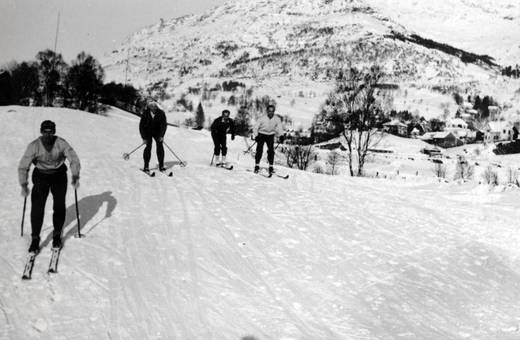 Skifahren in Bergen