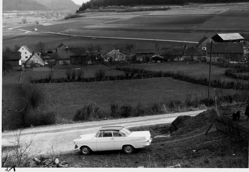 auto, bayern, Coupe, dorf, KFZ, Opel, Opel Rekord, Opel-P2, Opel-Rekord-P2, PKW