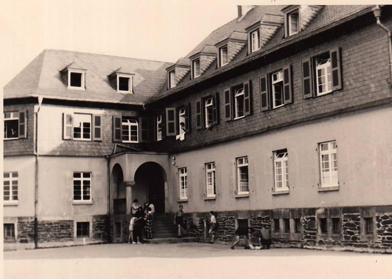 eifel, Hof, Innenhof, Jugendherberge, Klassenfahrt, manderscheid, Rheinland-Pfalz