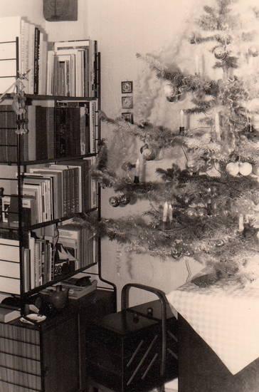 Baumkugeln, Buch, bücherregal, christbaum, köln, nähkorb, Tannenbaum, Weihnachtsbaum
